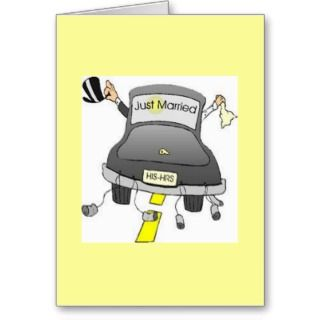 Note Cards Announcements   Just Married