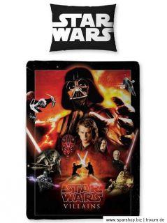 Star Wars Saga Wende Bettwäsche 135x200 Vader Yoda Jedi Bettgarnitur