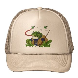 Frog Born To Fly Fish Hat