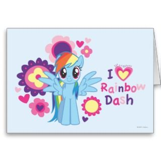 Heart Rainbow Dash Card