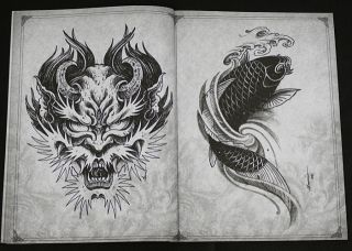 MAURICIO TEODORO DA SILVA Japanese Style Sketchbook TATTOO FLASH BOOK