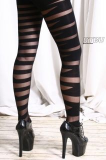 amazing rock star crossing strap pattern pantyhose. excellent quality.