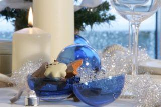 Homestyles S 354 08 Foto Weihnachtskugeln blau 2 er Set