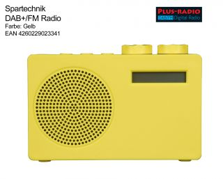 plus radio gelb DAB+ DAB Radio Dual Mode Digitalradio Empfänger