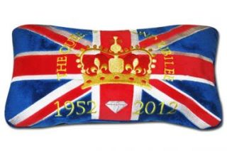 Queens Elizabeth Diamond Jubilee Souvenir Commemorative Cushion 2012