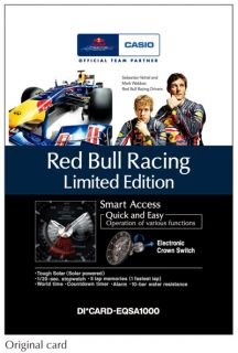 Casio Edifice Red Bull Racing Solar EQS A1000RB Vettel Webber F1 Pre