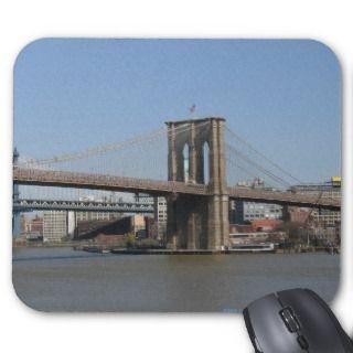 NEW YORK CITY, BROOKLYN BRIDGE MOUSEPAD