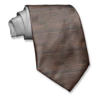Chevron Pattern, brown wood grain photo print Neckwear