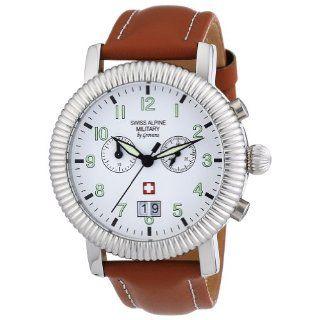Swiss Alpine Military Herren Armbanduhr XL AV288 Chronograph Leder