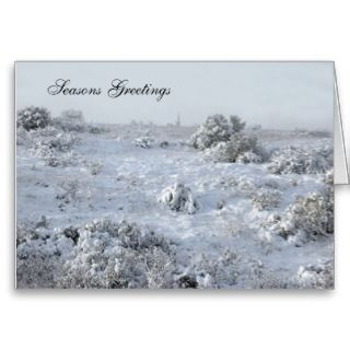 Winter scene Christmas card 2