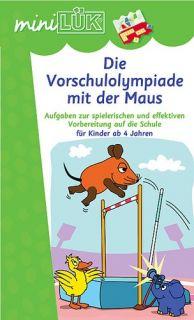 mini LÜK Set VORSCHULOLYMPIADE mit der Maus Gerät/Kasten+2 Hefte