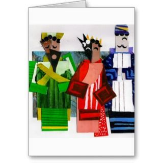 Wise Men Cubist Christmas Greeting Card