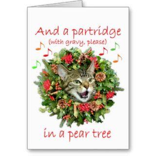 Kitty sings Twelve days of Christmas Card