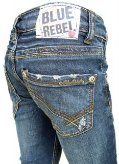 Blue Rebel Girls Jeans Gold super skinny rebel wash NEU