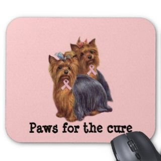 Yorkshire Terrier Breast Cancer Mousepad