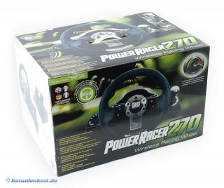 Xbox 360   Power Racer 270 Wireless Racing Wheel / Lenkrad (NEU & OVP