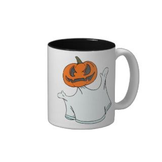 Halloween Pumpkin Ghost Coffee Mugs