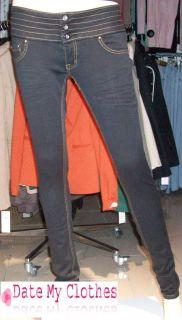 NEU Damen Miss Anna Jeans E354 schwarz Röhrenjeans Gr.34 42