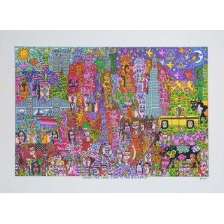 James Rizzi When the cow come to the big apple Kunstdruck Probedruck