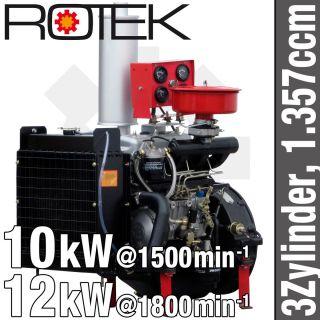 Zyl. Dieselmotor 1.357ccm wassergekühlt Diesel Motor BHKW Generator