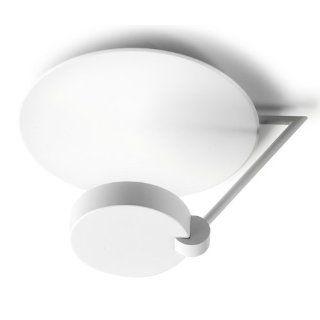 Large White Semi Flush Deckenleuchte mit 300 Watt Wolfram Halogen