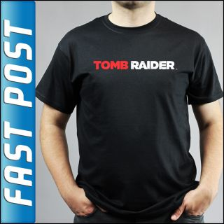 Tomb Raider PS3 Xbox 360 Black T Shirt Adults and Kids Sizes
