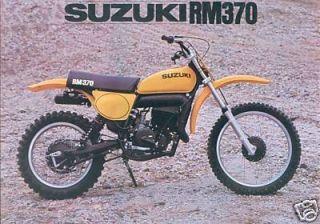 Suzuki RM 370 Moto Cross Prospekt brochure 70er Jahre