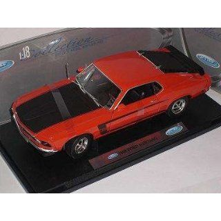 FORD MUSTANG BOSS 302 ROT TUNING 1969 RED METALLMODELL 1/18 WELLY