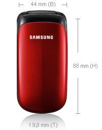 Samsung E1150i Klapphandy 3,6 cm Display ruby red
