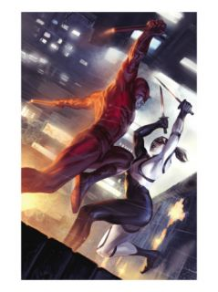 Daredevil #113 Cover Daredevil and Lady Bullseye Posters