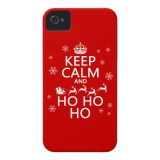 Keep Calm and Ho Ho Ho   Christmas/Santa iPhone 4 Cases