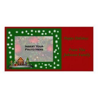 Christmas Holiday Elf Scene Photo Card