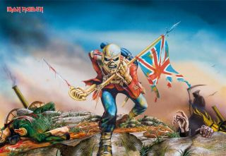 Fototapete, Iron Maiden, The Trooper, 8 teilig,366 x 254 cm