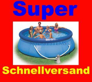 Intex EASY POOL SET mit Filterpumpe 366 x 91 Schwimmbad