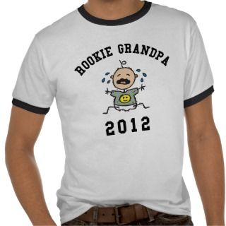 New Rookie Grandpa 2012 T Shirt