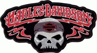 Harley Davidson Rhapsody Skull Aufnäher 13x7cm Patch Totenkopf www