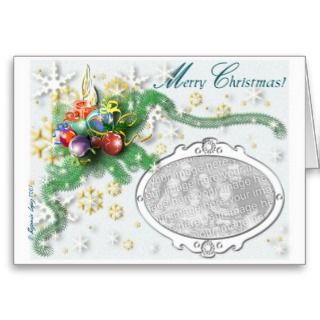 The perfect card templete to personalize you Christmas Greetings. Send