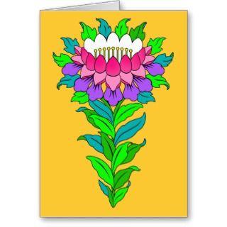 Classic Tibet Style Lotus Flower Card