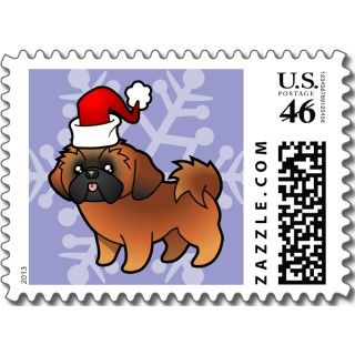 Christmas Shih Tzu (red puppy cut) stamps by SugarVsSpice