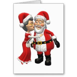 Mr and Mrs Santa Claus Christmas Card