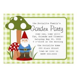 Mister Mushroom Garden Gnome Invite