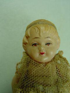 P378/ alte Minerva Puppenstuben Puppe Celluloid um 1920 ca.9 cm