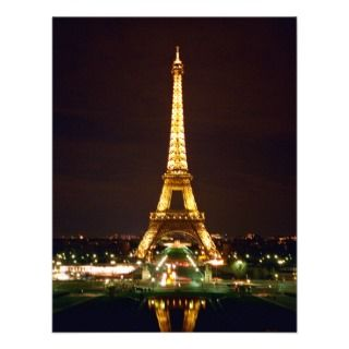 Eiffel Tower at Night   Color Invite