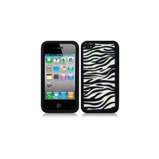 Iphone 4 4G soft Hülle Zebra Design + gratis Elektronik