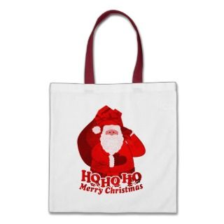 Christmas Santa Ho Ho Ho Merry Christmas red bag