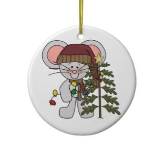 Christmas Mouse Decorating Tree Christmas Tree Ornament
