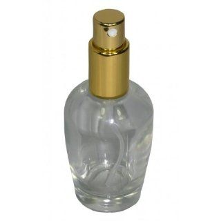 Flakon leer 50 ml mit Zerstäuberpumpe und Kappe Gold Bert + 1