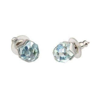 Swarovski Damen Ohrstecker Nuts Light Azore Moonlight in Rhodium