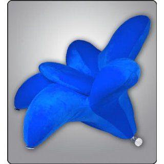 Designer Lounge Sessel Sofa Komfort FLOWER Blau NEU