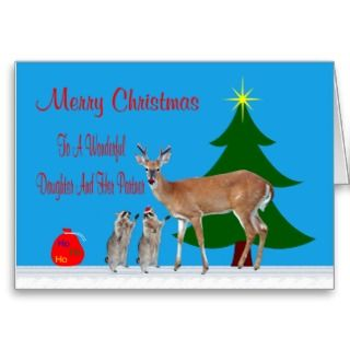 Christmas Daughter & Partner Card
